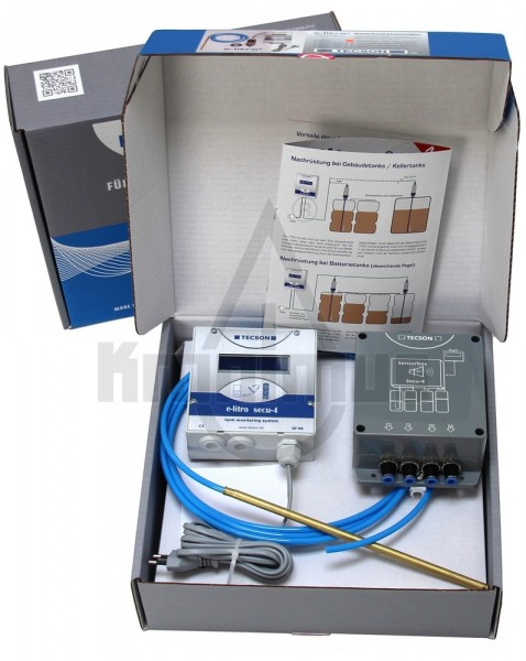 e-litro secu-4 Tankanzeiger Komplettsystem speziell für Batterietanks